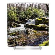 Smoky Mountain Waterfalls Shower Curtain