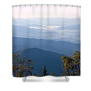 Smoky Mountains From Clingmans Dome Shower Curtain
