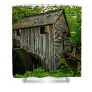 Smoky Mountains Grist Mill Shower Curtain