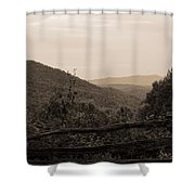 Smoky Mountains Lookout Point Shower Curtain
