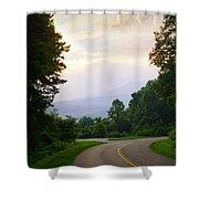 Smoky Mountains Scene Shower Curtain