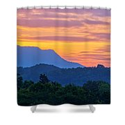 Smoky Mountains Sunrise Shower Curtain
