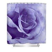 Smoky Purple Rose Flower Shower Curtain