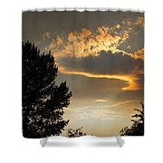 Smoky Summer Afternoon Sky Shower Curtain