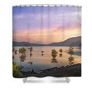 Smoky Sunset Shower Curtain