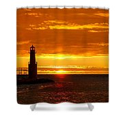 Smoldering Sunrise Shower Curtain
