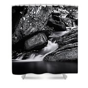 Smooth Flows Shower Curtain