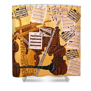 Smooth Jazz Shower Curtain