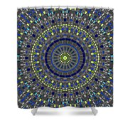 Smooth Squares Kaleidoscope Shower Curtain