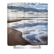 Smooth Water Reflections Shower Curtain