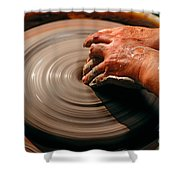 Smoothing Clay Shower Curtain
