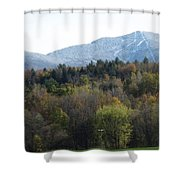 Smugglers Notch From Cambridge Vermont Shower Curtain