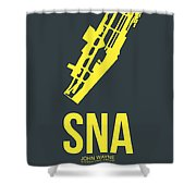 Sna Orange County Airport Poster 3 Shower Curtain