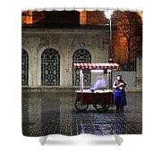 Snack Seller Cankurtaran Istanbul Shower Curtain