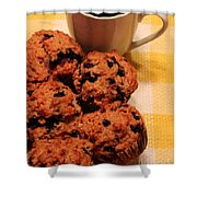 Snack Time - Muffins And Coffee Shower Curtain