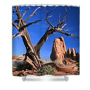 Snag At  Fiery Furnace Labyrinth Arches Shower Curtain