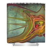 Snail In The 30th Century Shower Curtain