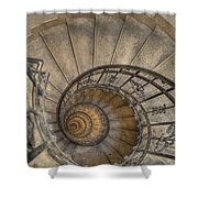 Snailing Stairs Shower Curtain