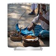 Snake Charmer Hampi Bazaar Shower Curtain