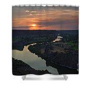 Snake River Sunset Shower Curtain