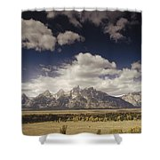 Snake River Valley Grand Teton Np Shower Curtain