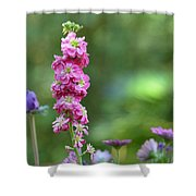 Snap Dragon On Bokeh Setting Shower Curtain