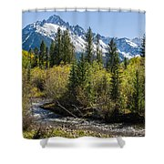Sneffles And Stream II Shower Curtain