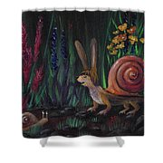 Snellius Fluffius Shower Curtain