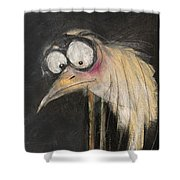 Snipe In The Moonlight Shower Curtain