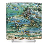 Snook Attack In0014 Shower Curtain