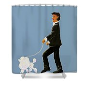Snooty Poodle Shower Curtain