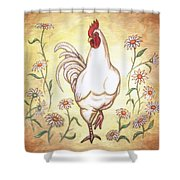 Snooty The Rooster Two Shower Curtain