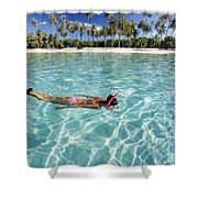 Snorkeling In Polynesia Shower Curtain