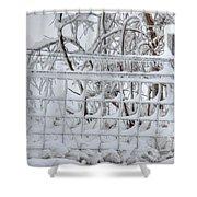 Snow - Ice - Fence Shower Curtain