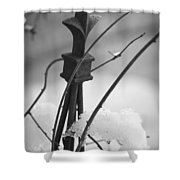 Snow Accent Shower Curtain