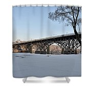 Snow Along Kelly Drive Shower Curtain