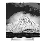 Snow And Clouds On Mt. Ngauruhoe 2 Shower Curtain