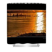 Snow And Ice Sunset Shower Curtain