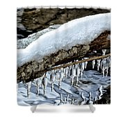 Snow And Icicles No. 1 Shower Curtain