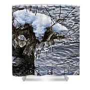 Snow And Icicles No. 2 Shower Curtain