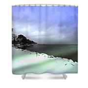 Snow And Sand Unite Shower Curtain
