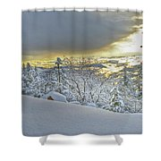 Snow And The Sierra Highway 88 Shower Curtain