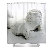 Snow Angel Figurine Shower Curtain