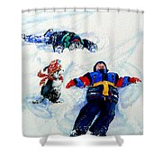 Snow Angels Shower Curtain