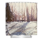 Snow At Broadlands Shower Curtain
