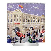 Snow At Buckingham Palace Shower Curtain by William Cooper