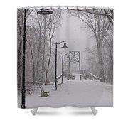 Snow At Bulls Island - 05 Shower Curtain