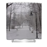 Snow At Bulls Island - 29 Shower Curtain
