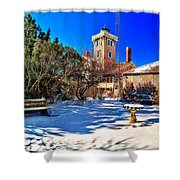 Snow At Hereford Inlet Shower Curtain