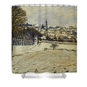 Snow At Marly-le-roi Shower Curtain